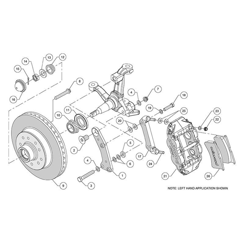Wilwood® - Plain Rotor Brake Kit