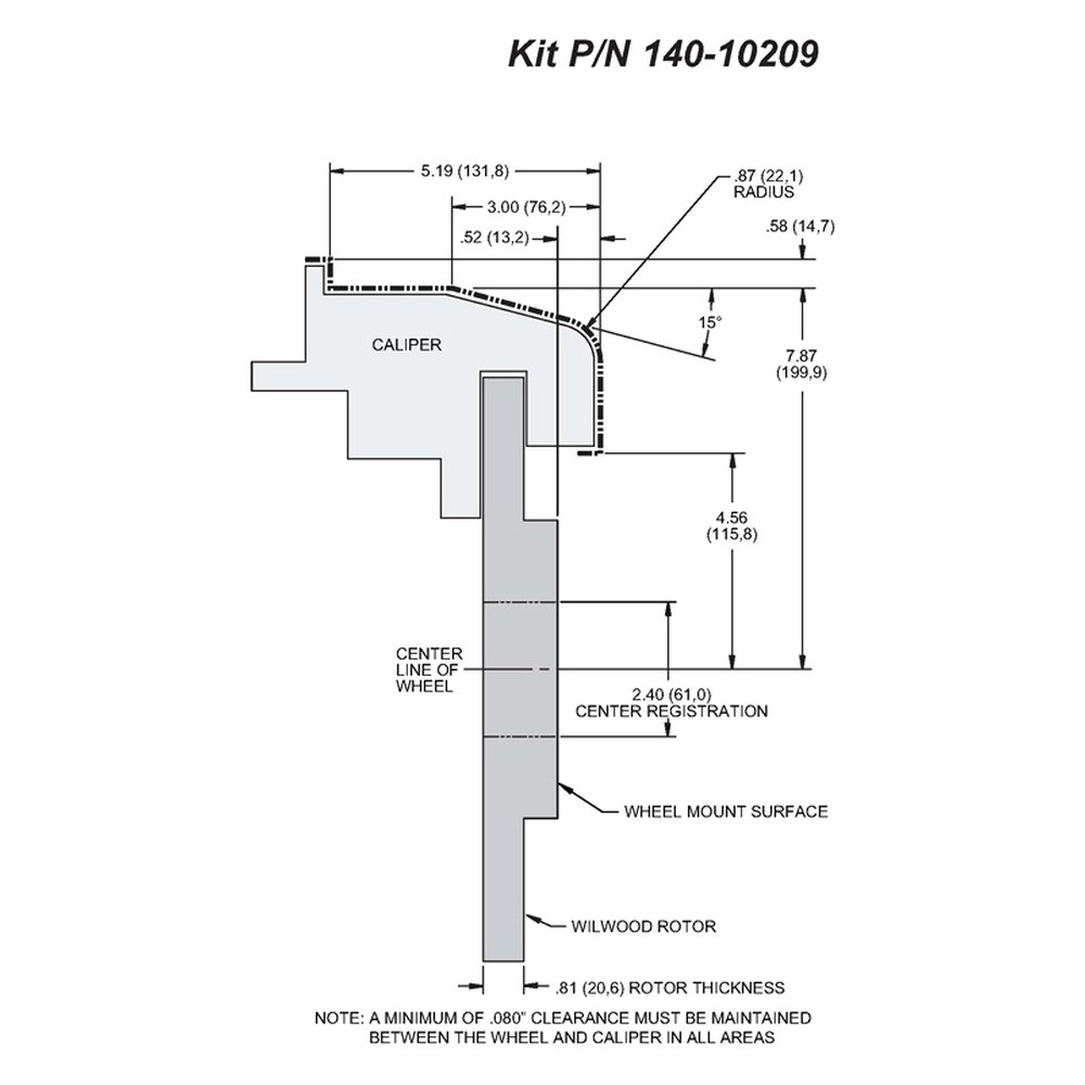 Wilwood 140 10209 Combination Parking Plain Rotor Rear Brake Kit Diagram With Assembly