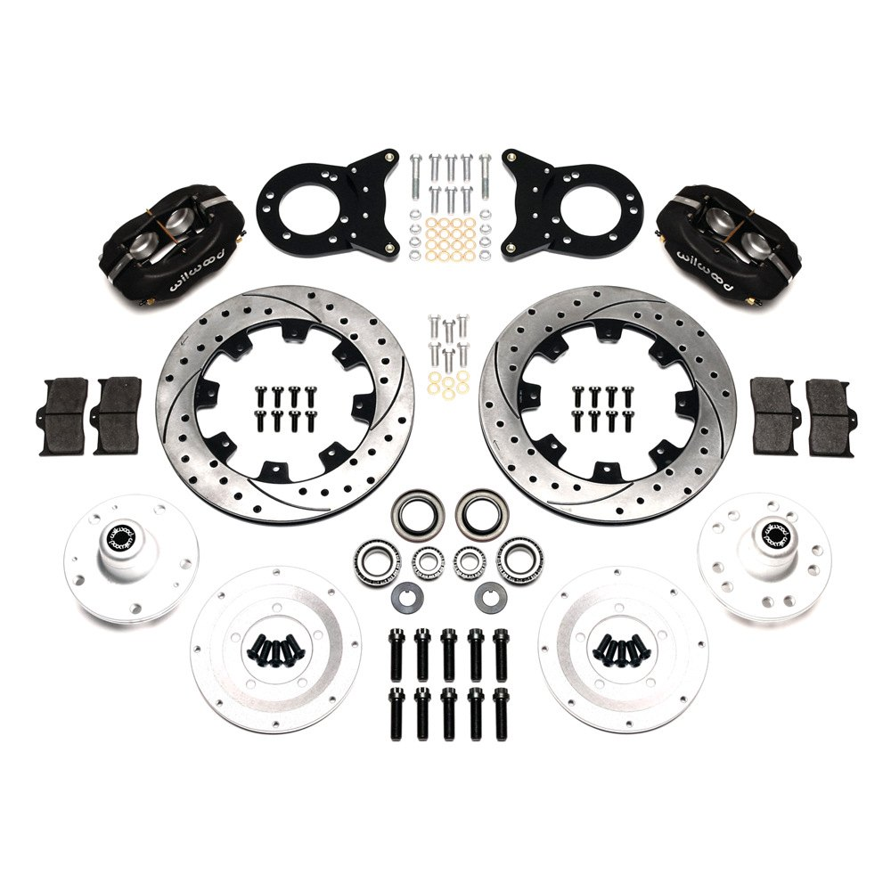 Wilwood Ford Fairlane 1966 1967 Street Performance Drilled And Slotted Rotor Front Brake Kit