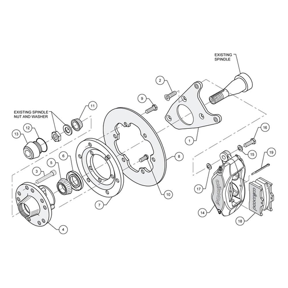 Wilwood® - Ford Thunderbird Rear Rotor Brakes 1987 Drag ...