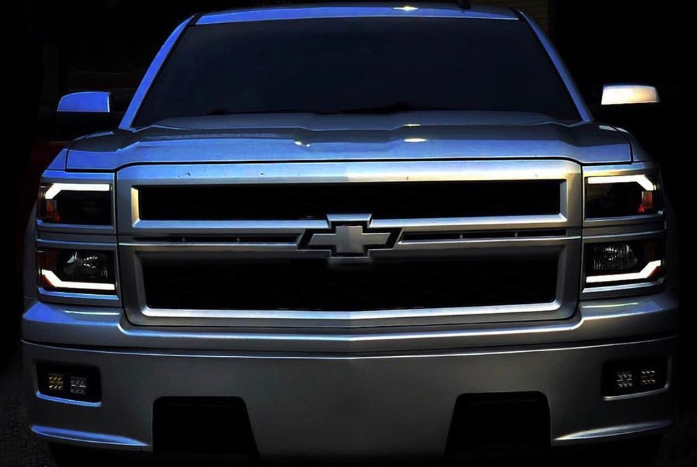 Black Led Drl Bar Projector Headlights Componentswinjet Components