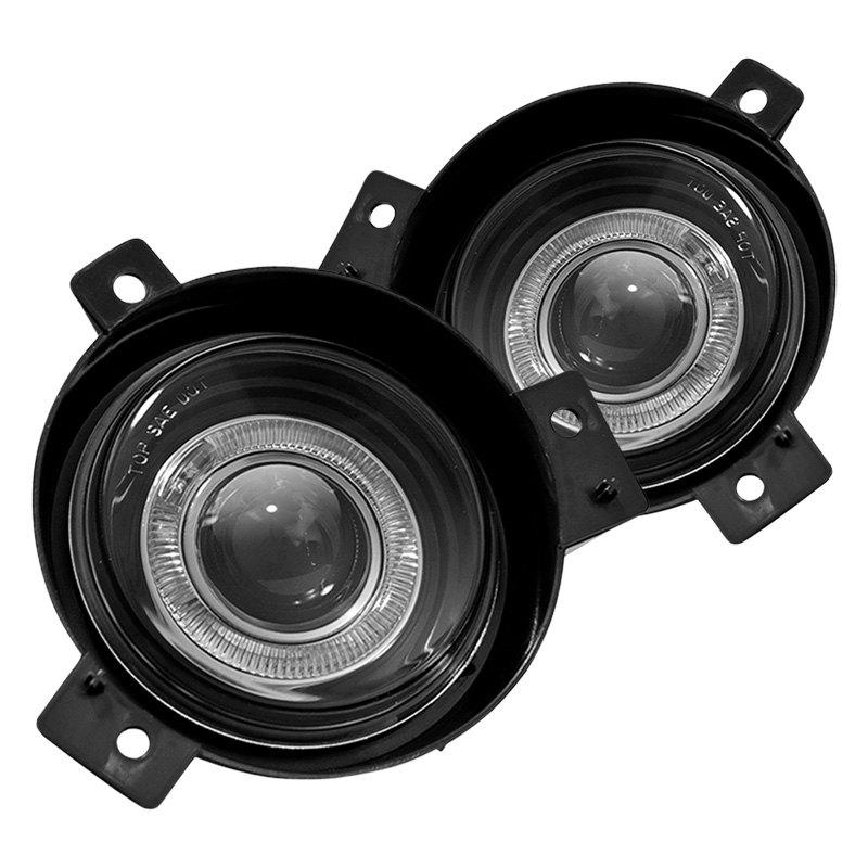 Winjet Driver And Penger Side Halo Projector Fog Lights
