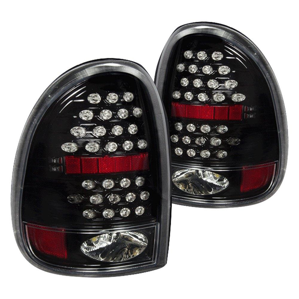 wj20 0013 16 dodge durango 1998 2003 glossy black led tail lights. Black Bedroom Furniture Sets. Home Design Ideas