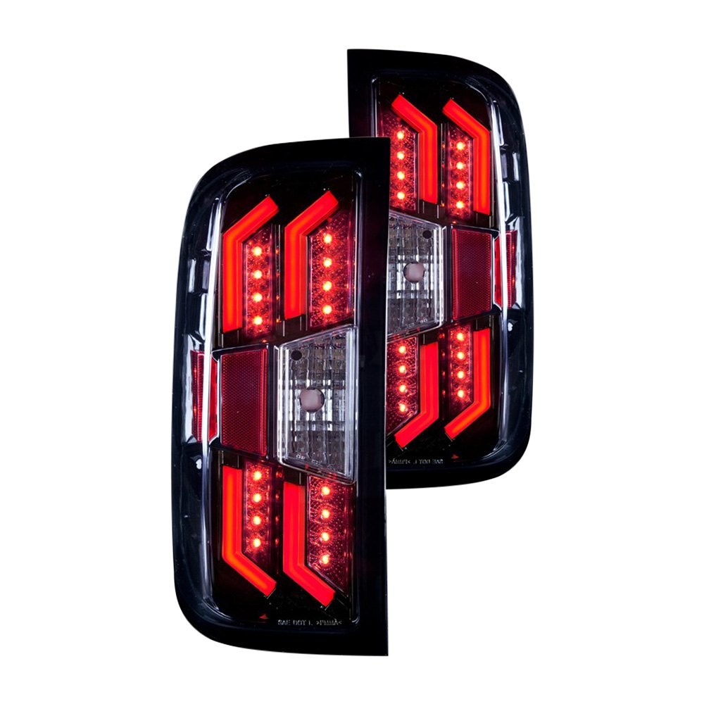 wj20 0383 16 chevy silverado 2014 glossy black led tail lights. Black Bedroom Furniture Sets. Home Design Ideas