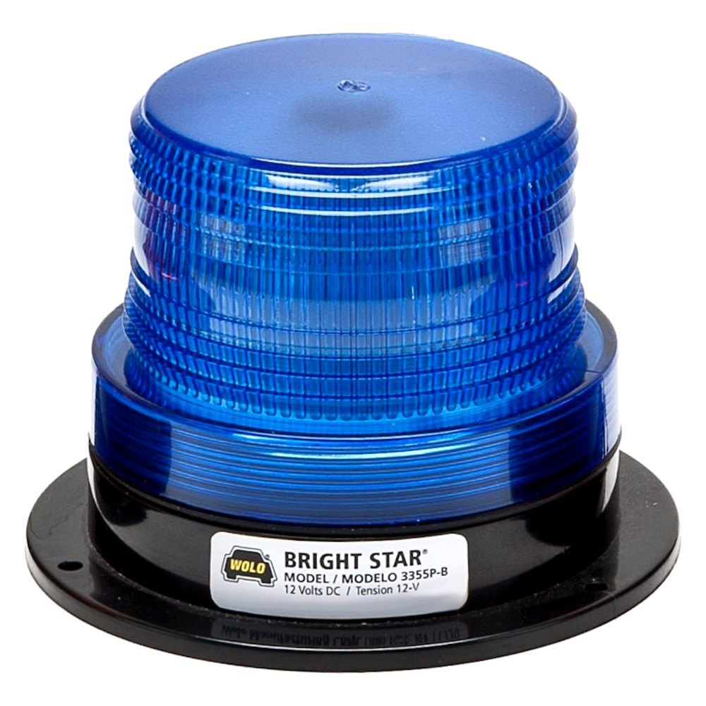 wolo u00ae 3355p b bright star u2122 permanent mount blue beacon light