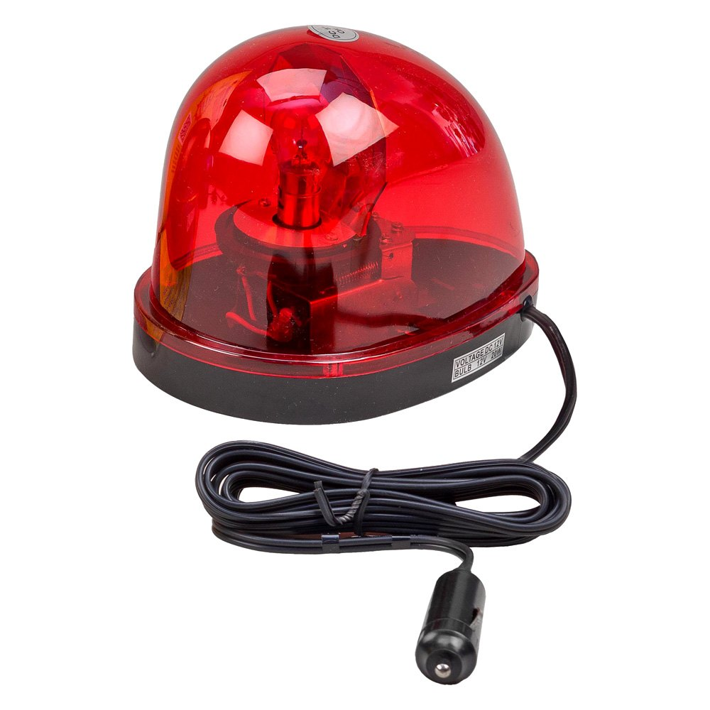 Wolo 174 3210 R Emergency 1 Red Lens Rotating Warning Light