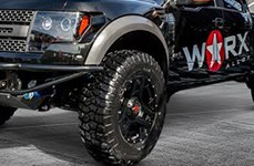 WORX® - 801SB TRIAD Satin Black with Milled Lip Accents on Ford