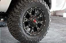 WORX® - 805SB TYRANT Satin Black with Diamond Cut Accents on Toyota Tacoma