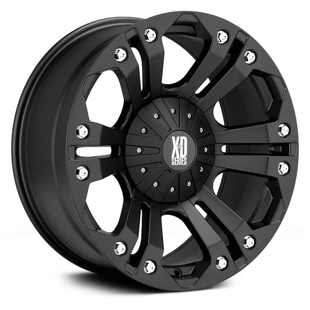 Xd series monster wheels matte black rims xd77889067712n m
