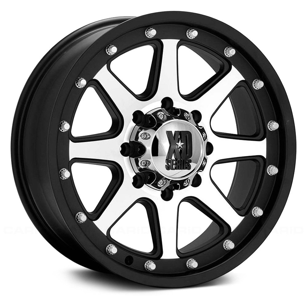 Xd Series 174 Addict Wheels Matte Black With Machined Face Rims