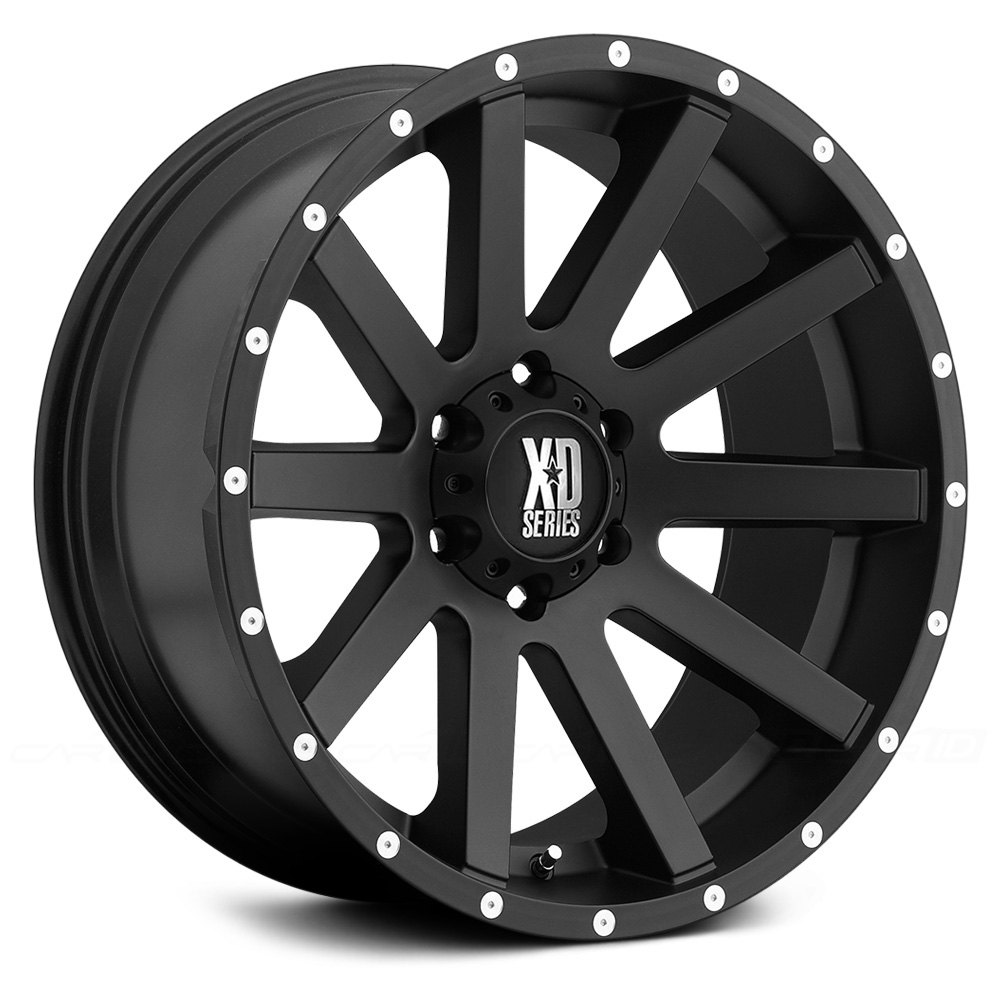 XD SERIES® HEIST Wheels - Satin Black with Milled Flange Rims