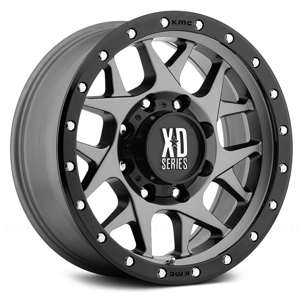 Xd Series 174 Xd127 Bully Wheels Matte Gray With Black Bead