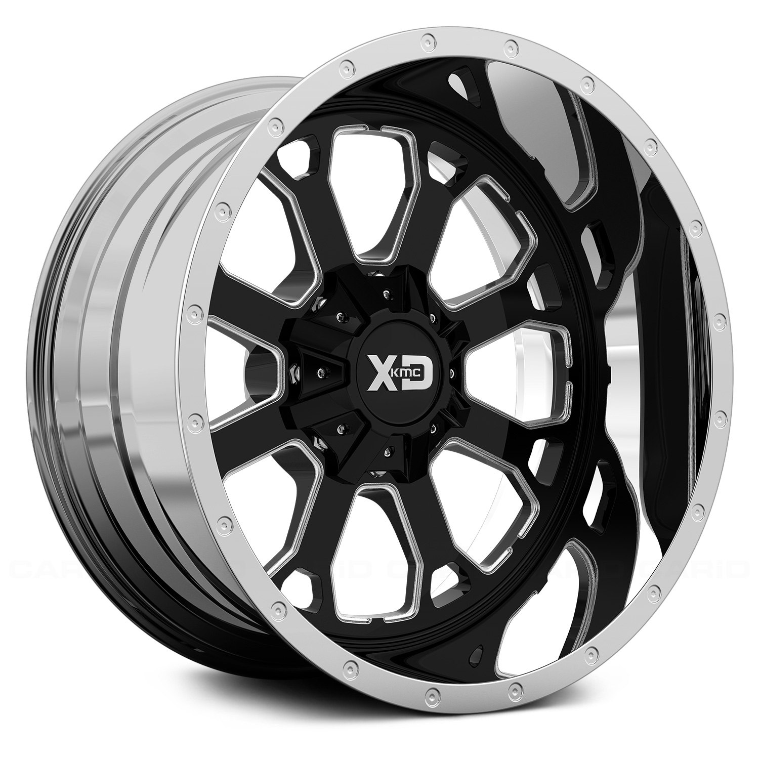 Xd Series Xd202 Buck 25 2pc Wheels Black And Milled Center With