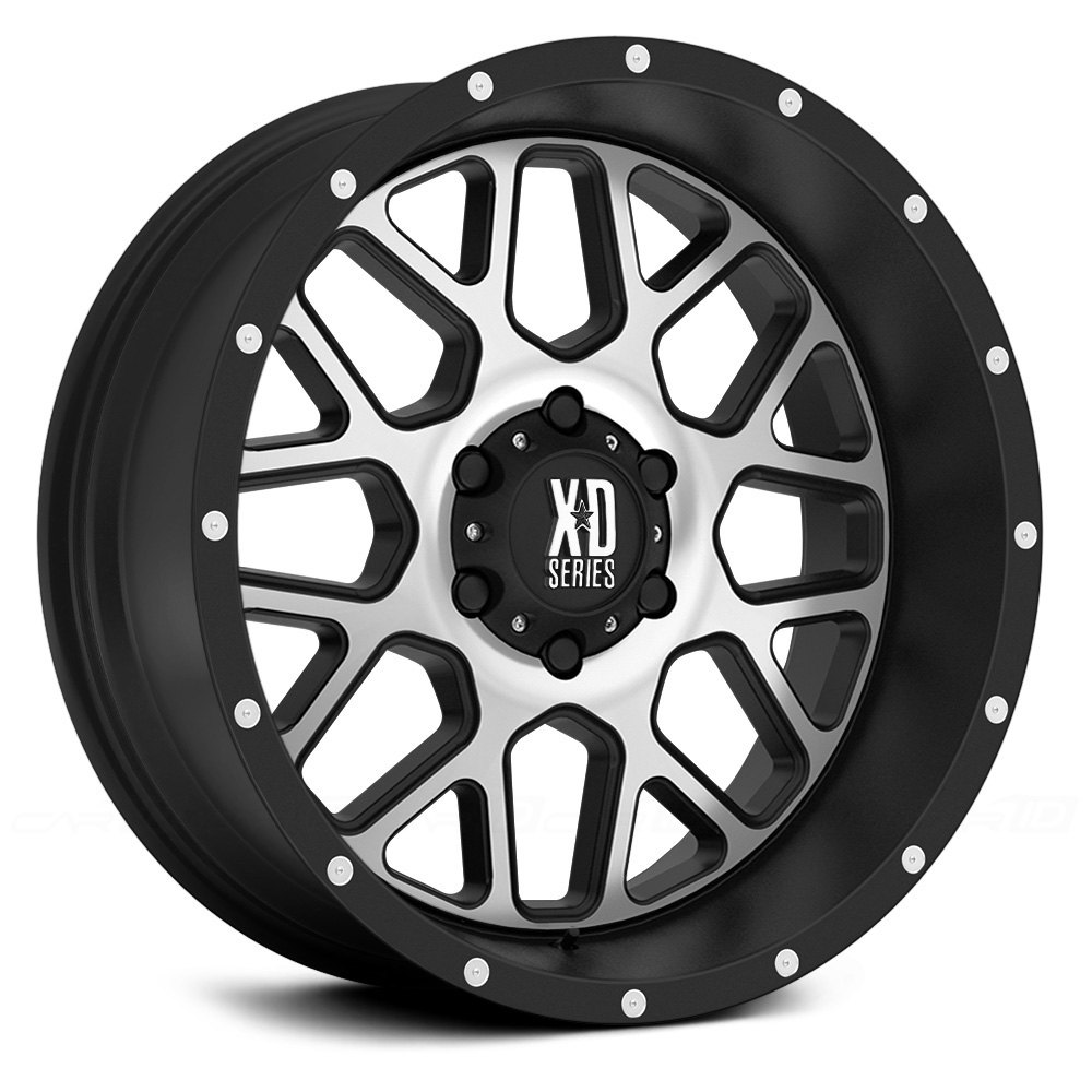 Xd Series 174 Xd820 Wheels Satin Black With Machined Face Rims