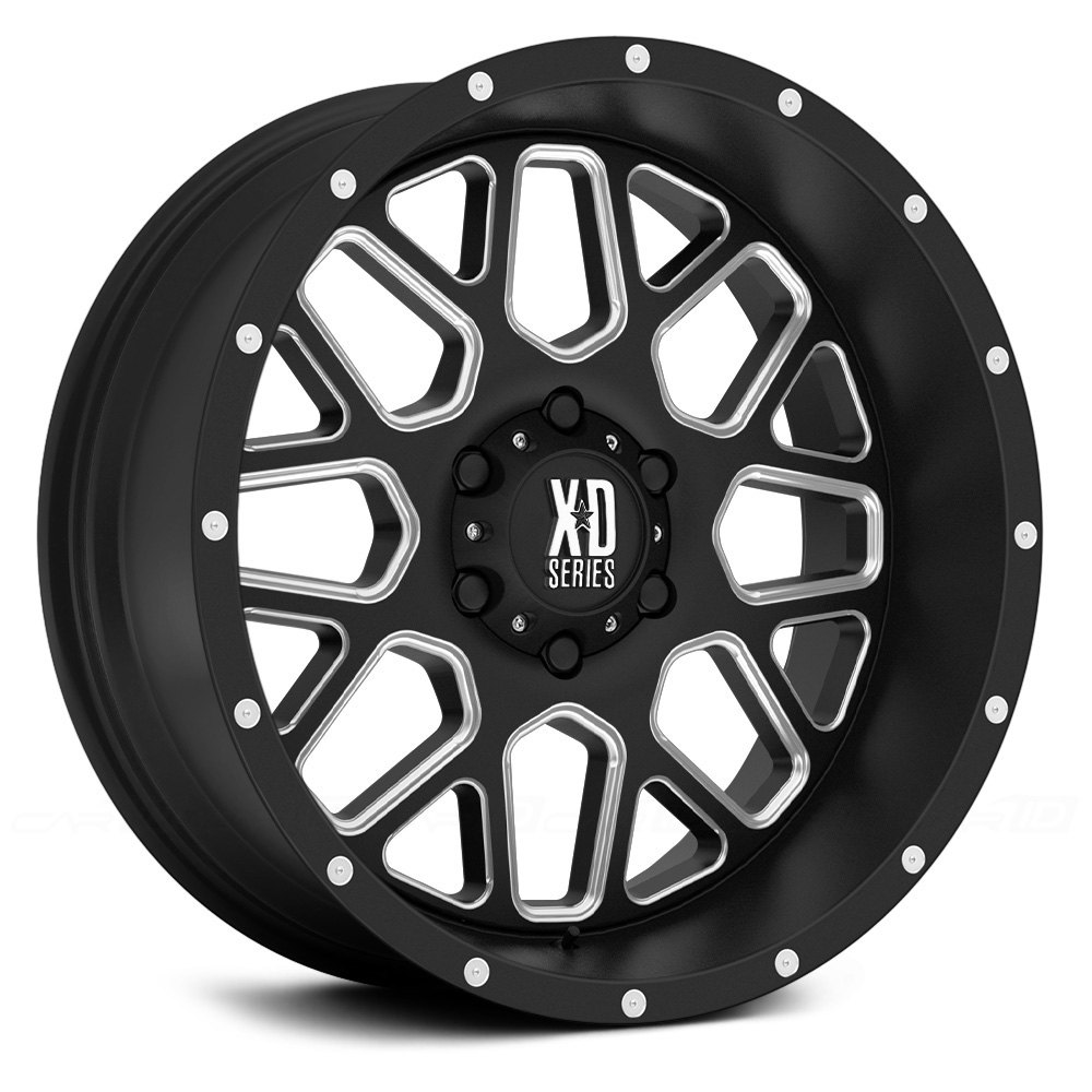 Xd Series 174 Xd820 Wheels Satin Black With Milled Accents Rims