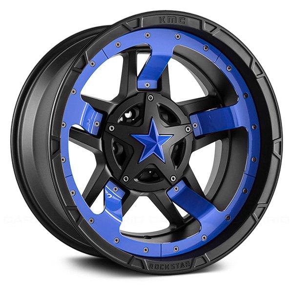 xd series xd827 rockstar 3 wheels matte black with black accents rims