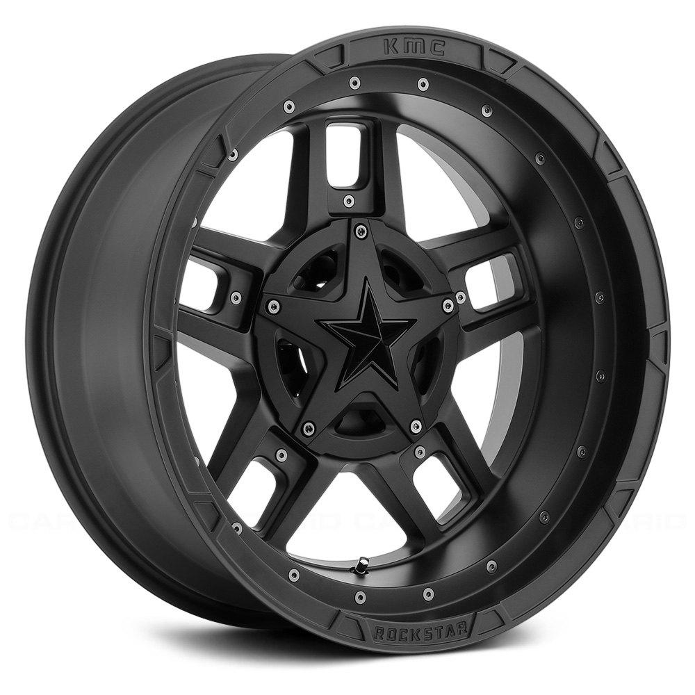 Xd Series 174 Xd827 Rockstar 3 Wheels Matte Black With