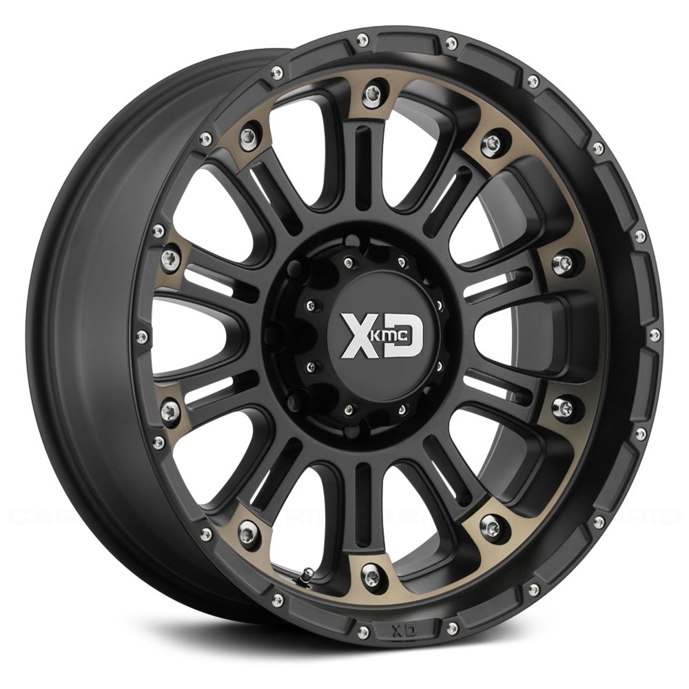 Xd Series 174 Xd829 Hoss 2 Wheels Satin Black Machined With