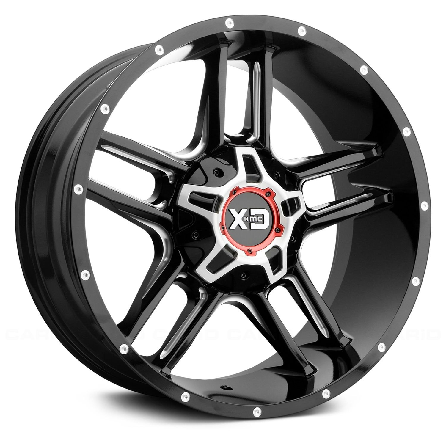 Clamp Tractor Rims Rims : Xd series clamp wheels gloss black with milled