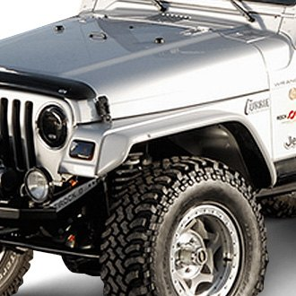 xenon jeep wrangler 1997 2006 flat panel style fender flares kit. Cars Review. Best American Auto & Cars Review