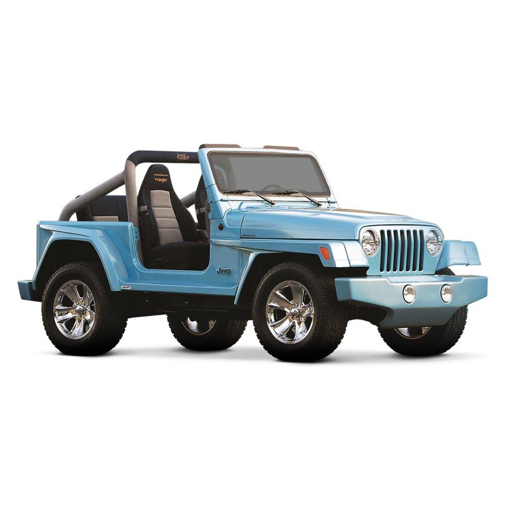 for jeep wrangler 1997 2006 xenon 8750 wrangler style body kit unpainted 672861011763 ebay. Black Bedroom Furniture Sets. Home Design Ideas