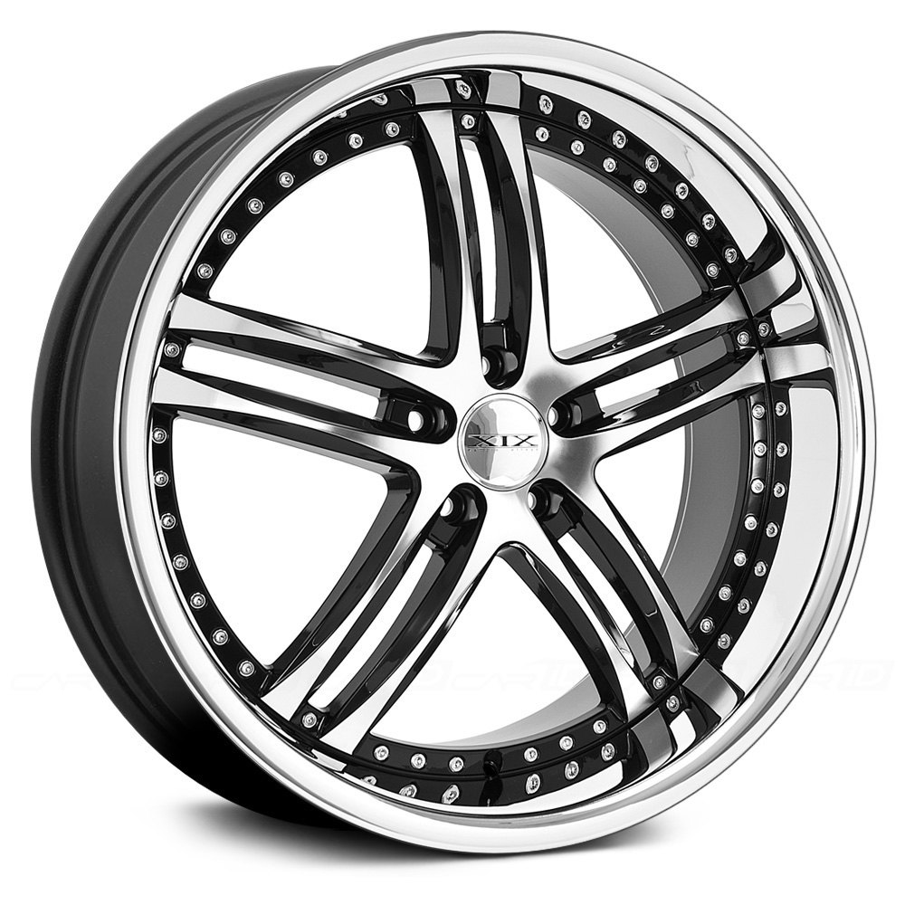 Xix Exotic 174 X15 Wheels Black With Diamond Cut Face And