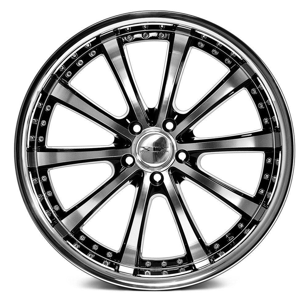 Xix Exotic 174 X21 Wheels Black With Diamond Cut Face And