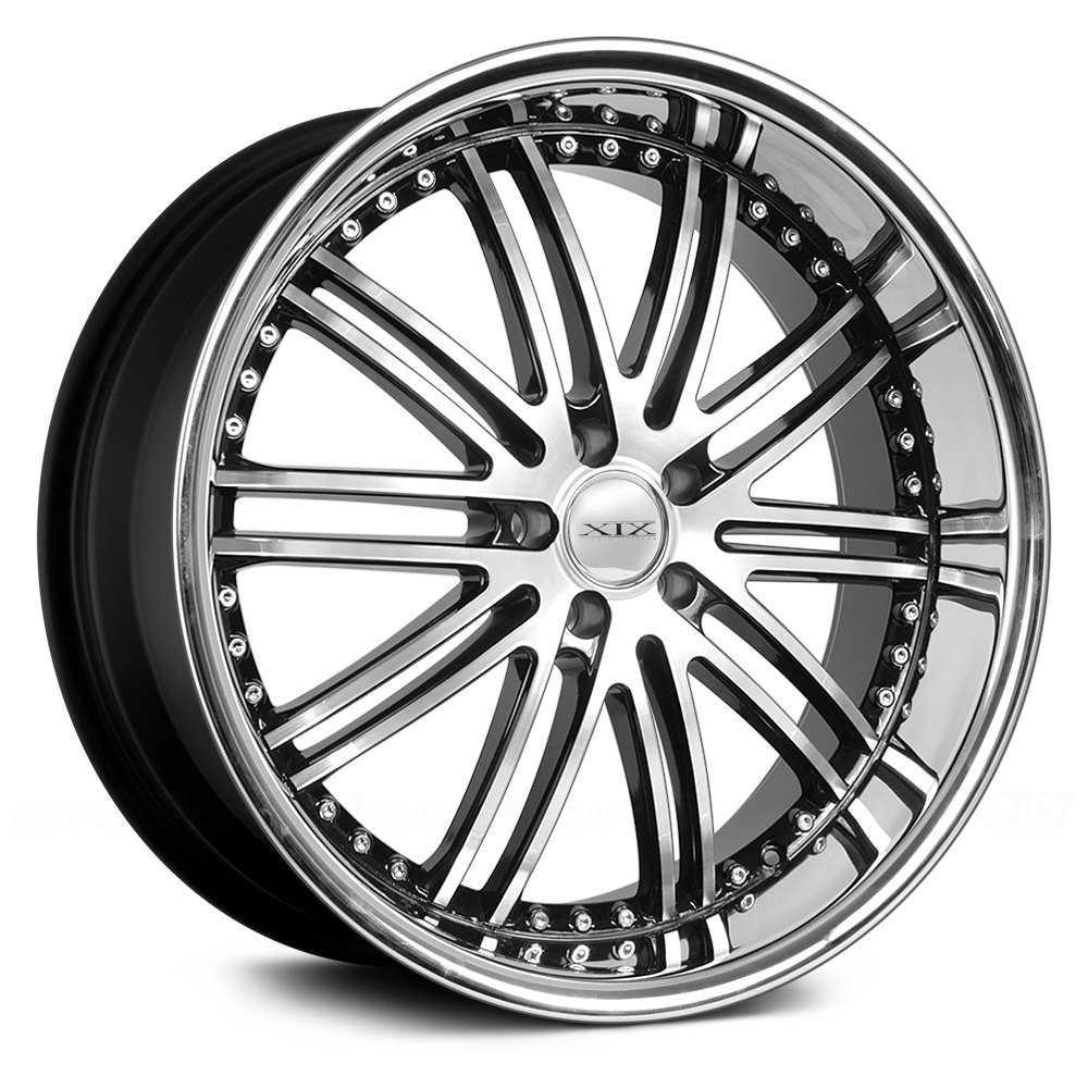 Xix Exotic 174 X23 Wheels Black With Diamond Cut Face And