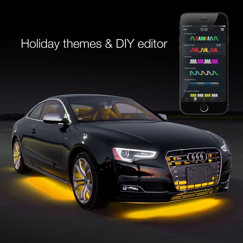 xkglow ks car mini xkchrome bluetooth app control multi color interior accent led light kit. Black Bedroom Furniture Sets. Home Design Ideas