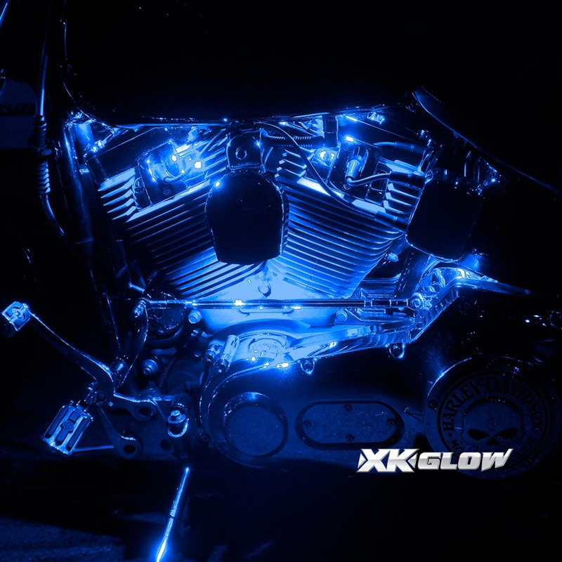 motorcycle underglow led light kit with remote control with 6 light. Black Bedroom Furniture Sets. Home Design Ideas