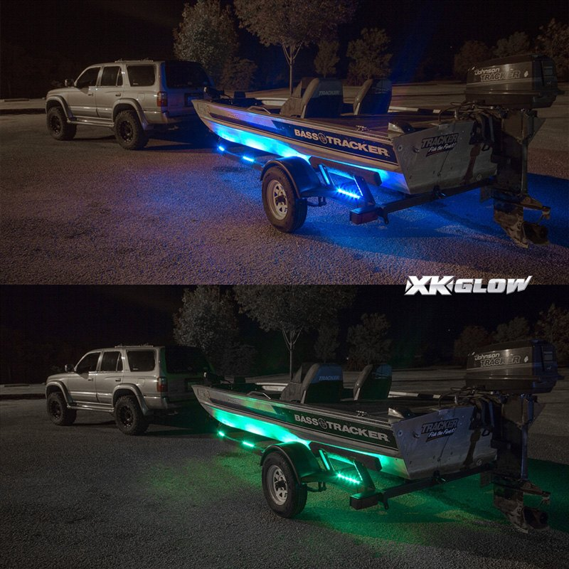 ... Boat Trailer Docking Multi Color LED Light Kit With Remote Control ... : boat lighting kits - azcodes.com