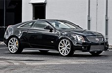 XO® - TOKYO Matte Silver with Brushed Face on Cadillac CTS