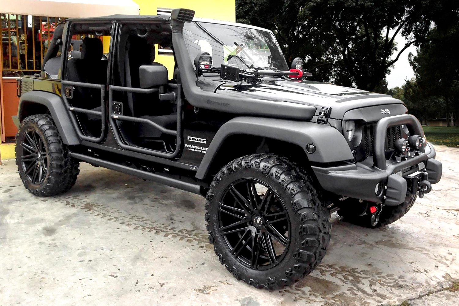 flat black jeeps for sale autos post. Black Bedroom Furniture Sets. Home Design Ideas