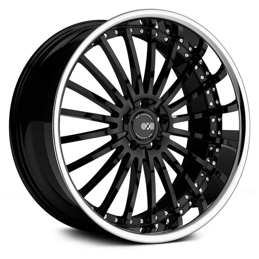 Xo 174 New York Wheels Gloss Black With Ss Lip Rims