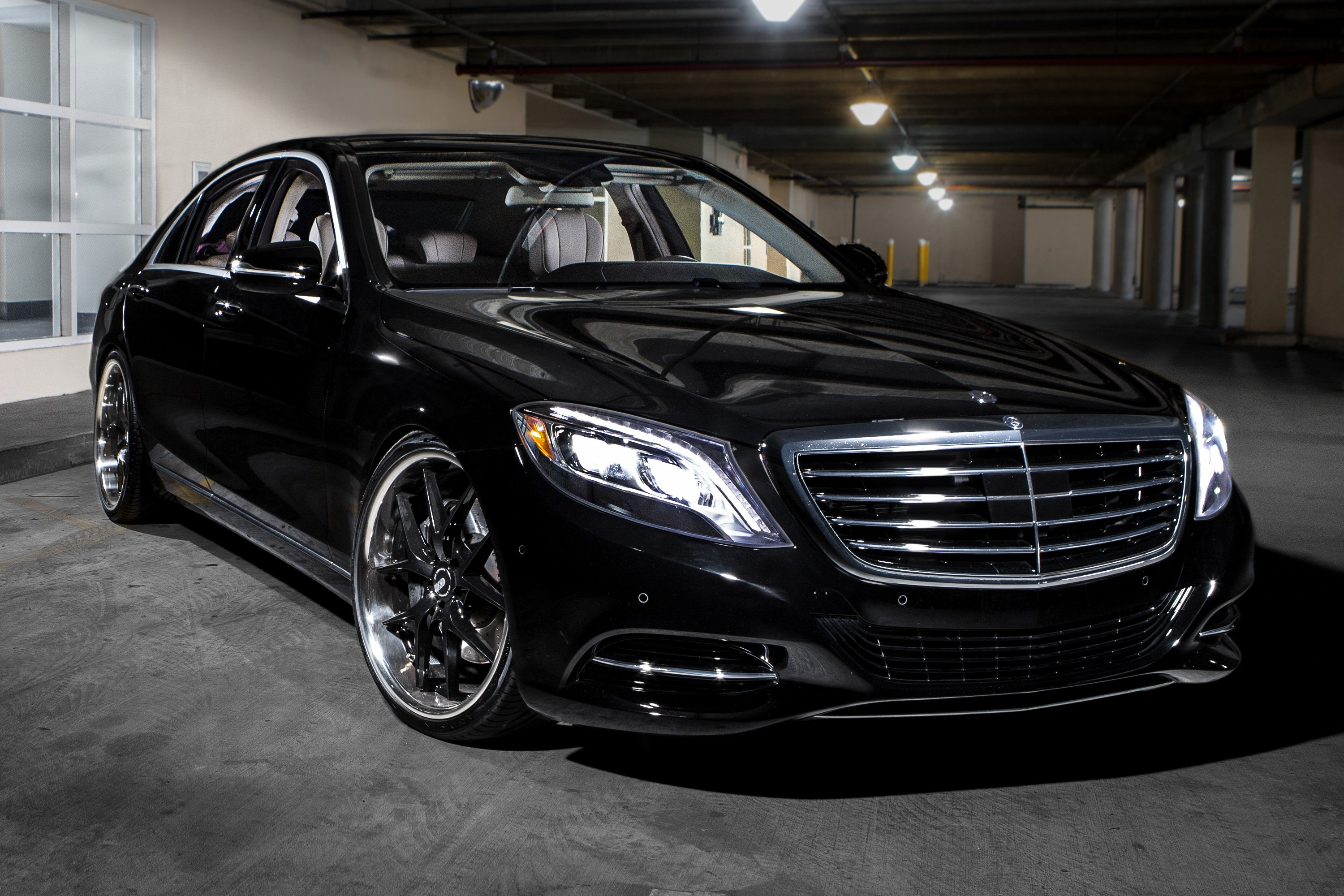 Xo athens wheels gloss black with ss lip rims for Mercedes benz ss