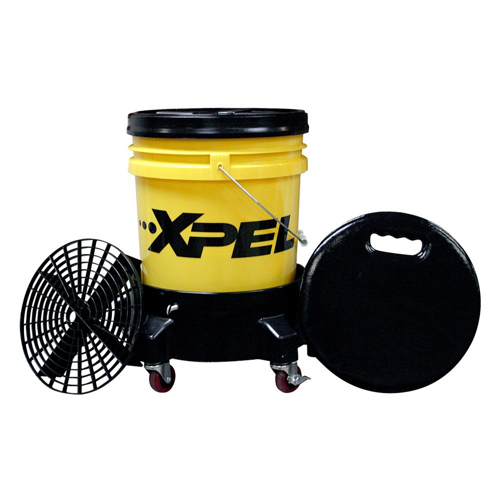 xpel r1339 5 gallon wash bucket and installation stool. Black Bedroom Furniture Sets. Home Design Ideas