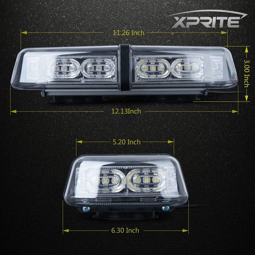 Xprite 52010c r 118 36 led red magnet mount light bar 118 36 led red magnet mount light barxprite aloadofball Choice Image
