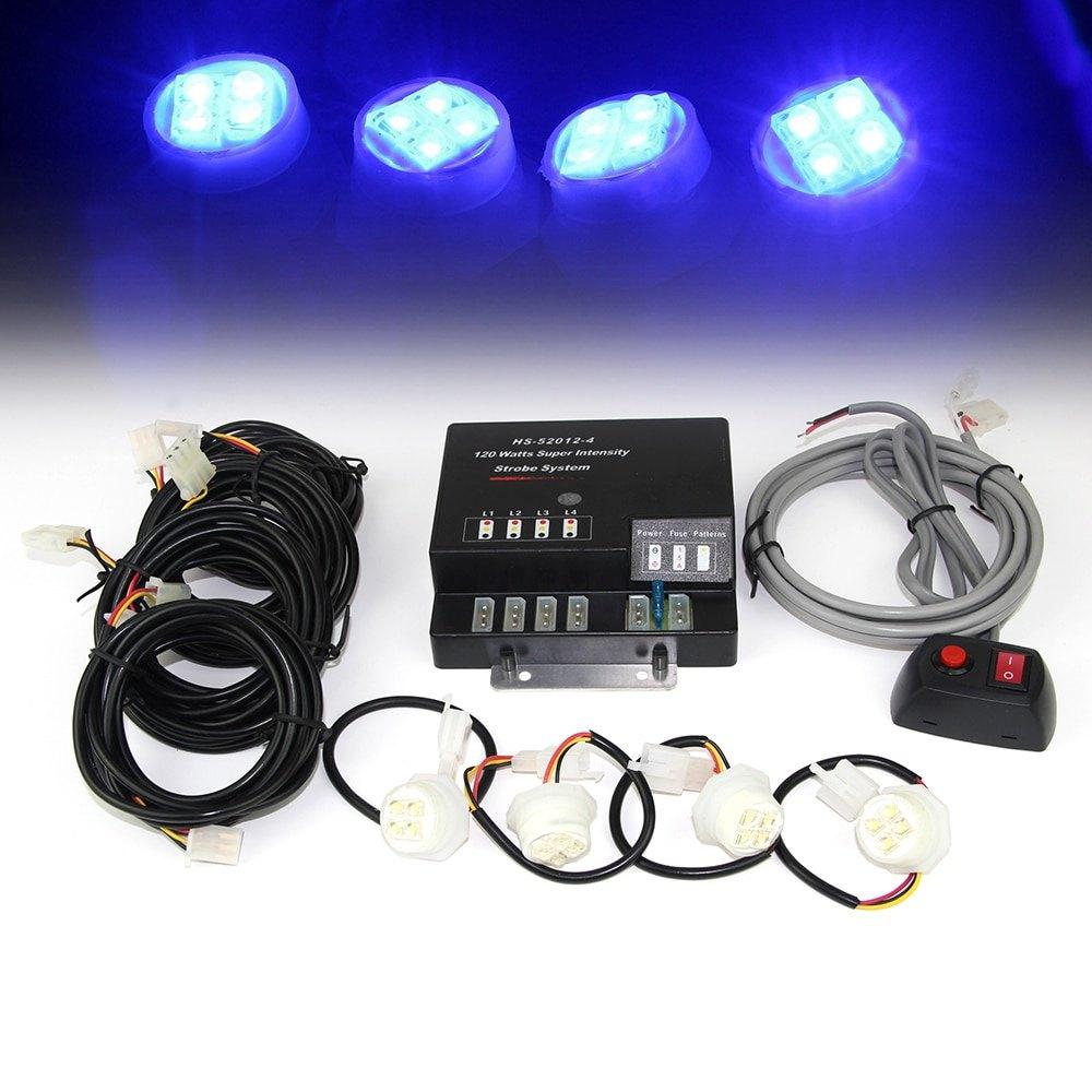 Hardwire LED Hideaway Strobe Light Kit