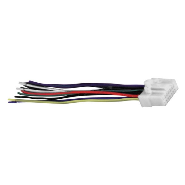 pa16000 xscorpion� wiring harness with aftermarket stereo plugs panasonic 16 pin wire harness at mifinder.co