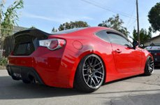 XXR 530 Flat Black on Scion FR-S