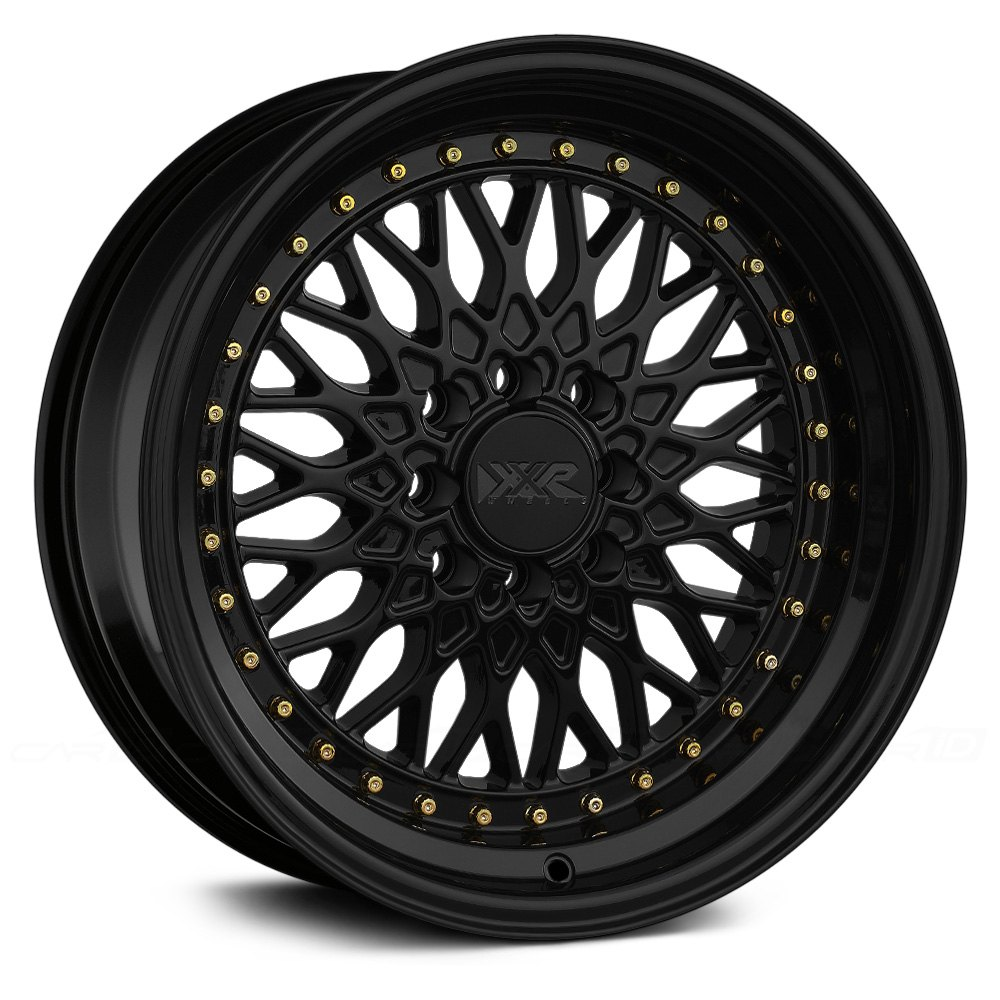 Xxr 174 536 Wheels Black With Gold Rivets Rims