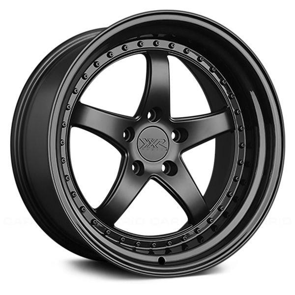 XXR 565 18x8.5 5x114.3 +20 Flat Black / Gloss Black Lip Wheel/Rim