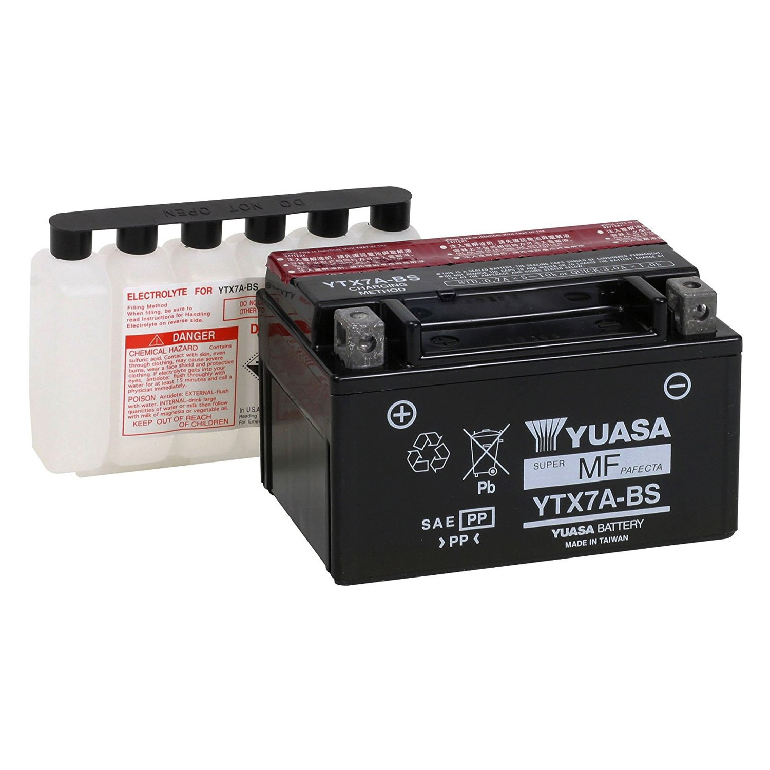 yuasa ytx7a bs agm 12 volt battery. Black Bedroom Furniture Sets. Home Design Ideas
