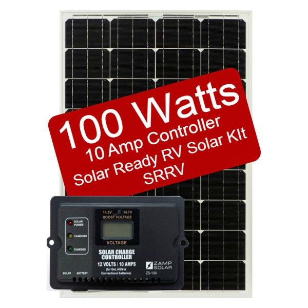 Zamp Solar 174 Zs 100 10a Srrv 100 Watts Solar Rv Ready Kit