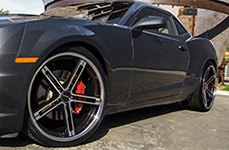 ZENETTI® - CAPRI Flat Black with Machined Face and Chrome Lip on Chevy Camaro