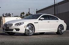 ZENETTI® - HEIR Black with Machined Face and Chrome Lip on BMW 6-Series
