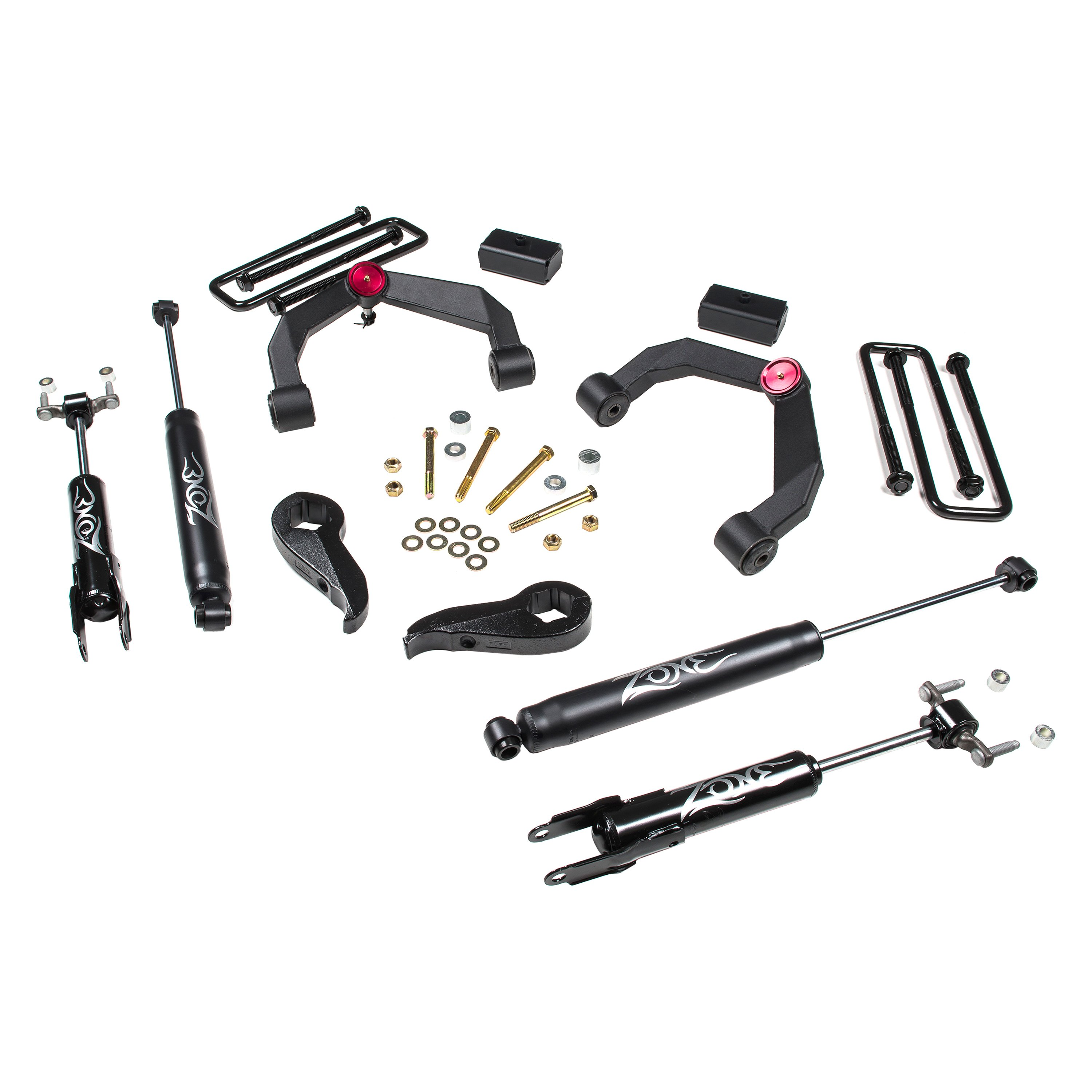 zone offroad c37n 3 x 2 adventure series uca front and rear suspension lift kit