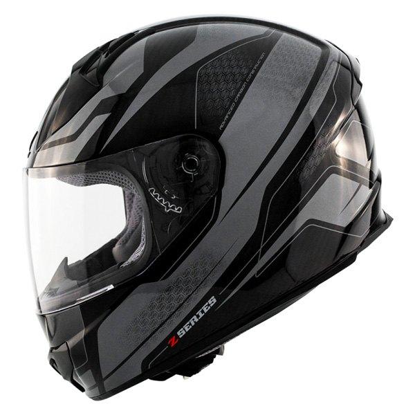 Zox ODYSSEY CARBON Vigilance Fullface Helmet Dark Silver M 88-34233