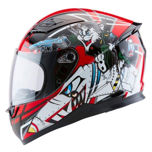 GMAX Unisex-Adult Style G3770025 Of77 Open Face Helmet Black m Medium