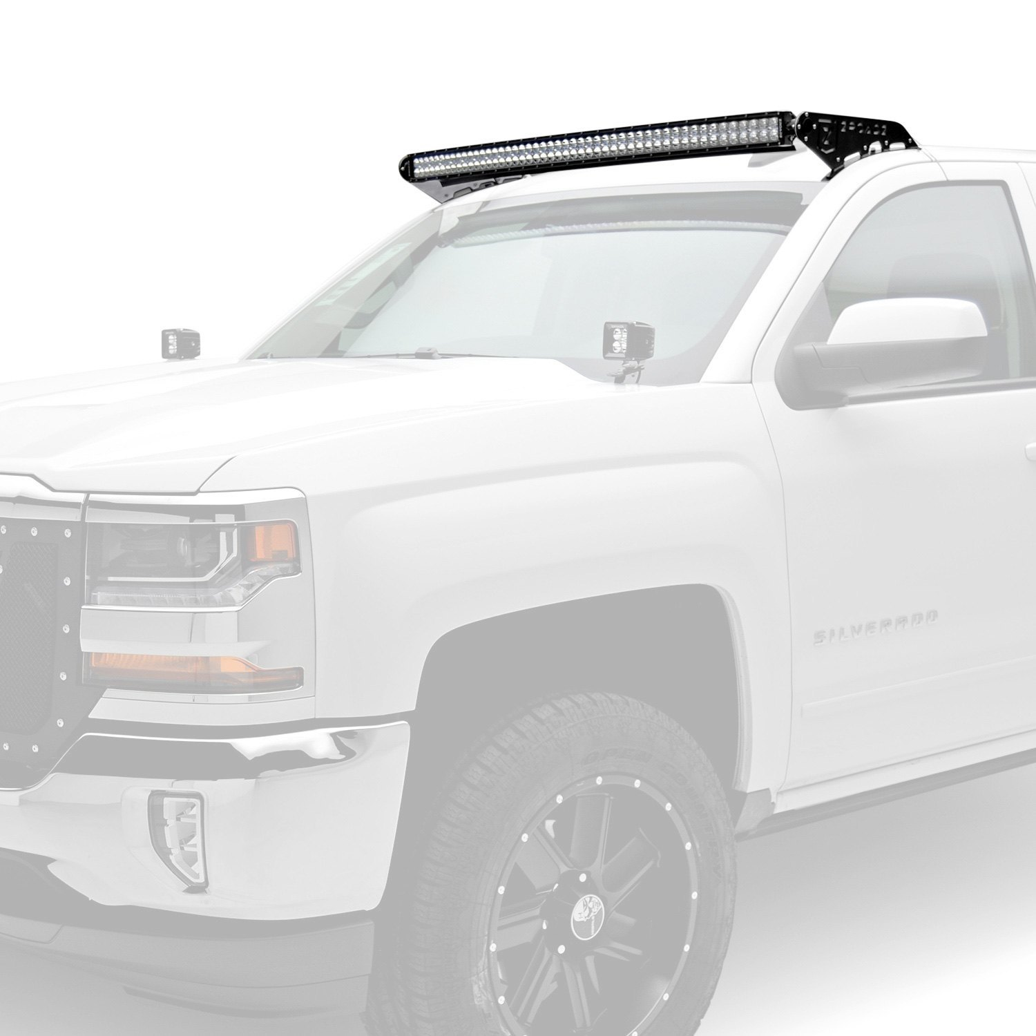 Zroadz Z332081 Kit C Roof Mounted 50 288w Curved Dual Row Combo Double Led Light Bar Wiring Harness Beam